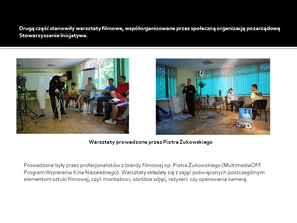 Prowadzone były przez profesjonalistów z branży filmowej np. Piotra Żukowskiego (MultimediaOFF Program Wspierania Kina Niezależnego). Warsztaty składa