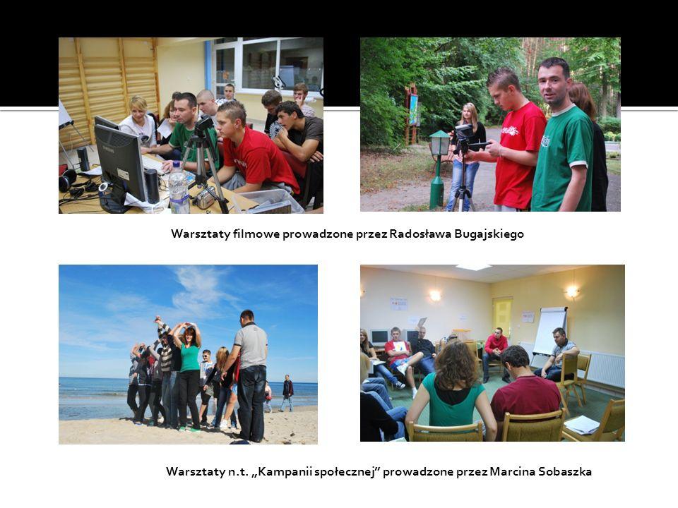 Warsztaty filmowe prowadzone przez Radosława Bugajskiego Warsztaty n.t. Kampanii społecznej prowadzone przez Marcina Sobaszka