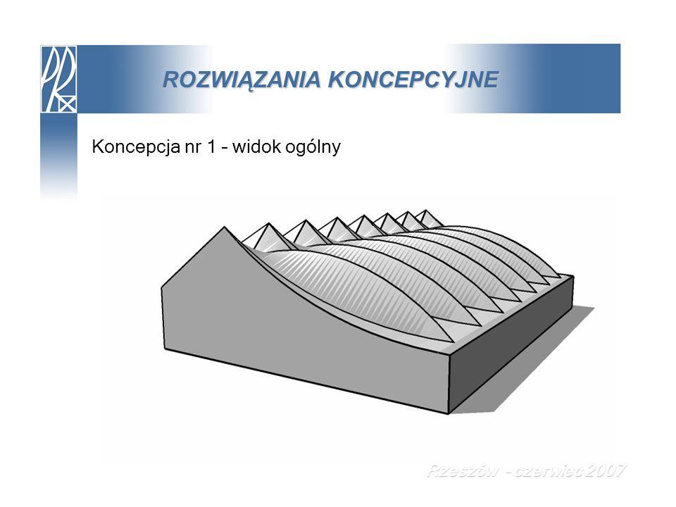 ROZWIĄZANIA KONCEPCYJNE Koncepcja nr 1 – widok ogólny Rzeszów - czerwiec 2007