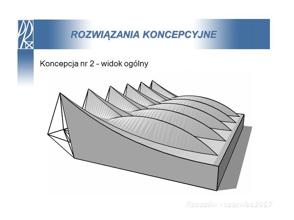 ROZWIĄZANIA KONCEPCYJNE Koncepcja nr 2 – widok ogólny Rzeszów - czerwiec 2007