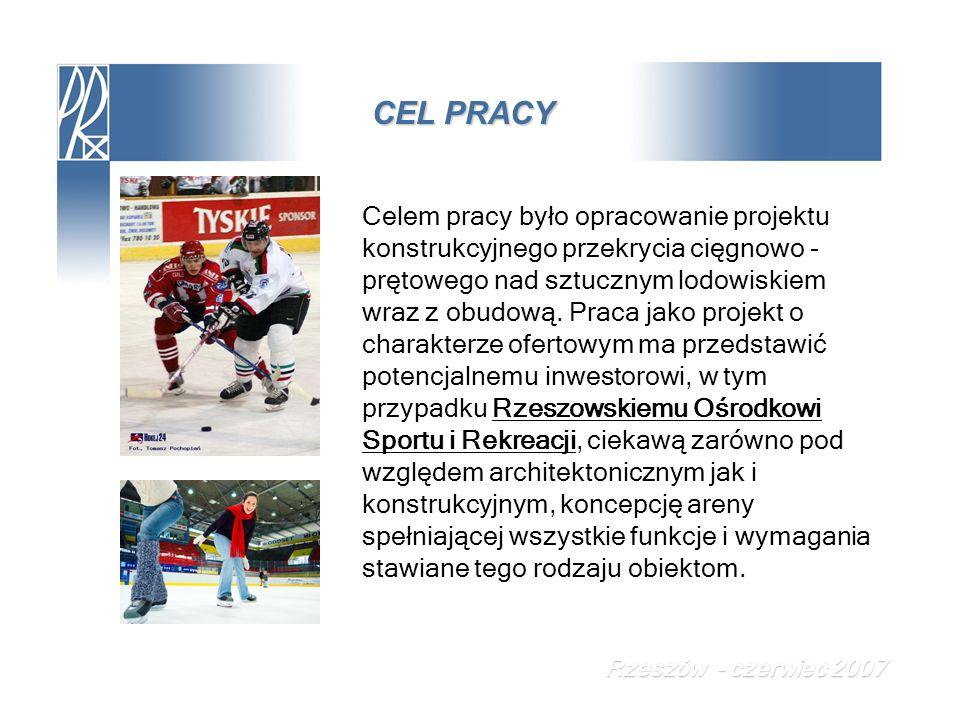 PROJEKT TECHNICZNY Połączenie ramki oraz płatwi z cięgnem dolnym Rzeszów - czerwiec 2007