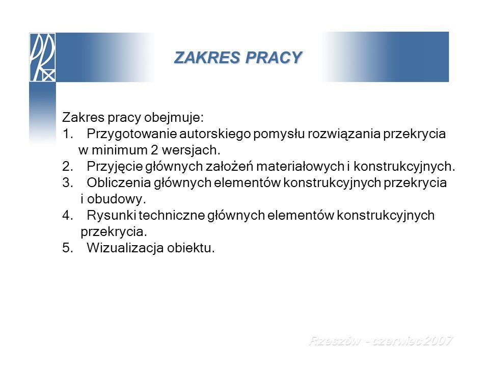 PROJEKT TECHNICZNY Konstrukcja ściany szczytowej Rzeszów - czerwiec 2007