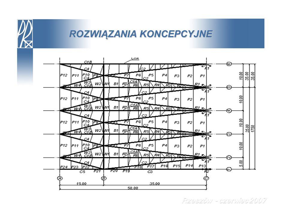 PROJEKT TECHNICZNY Układ kotwiący – analiza statyczna w programie ROBOT Rzeszów - czerwiec 2007