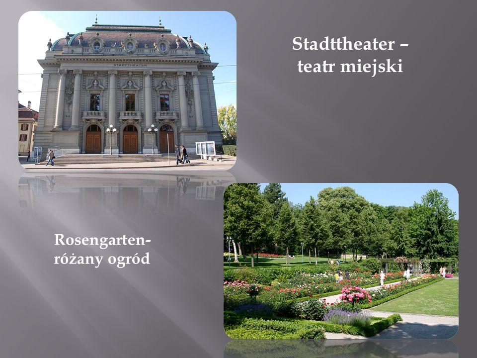 Stadttheater – teatr miejski Rosengarten- różany ogród