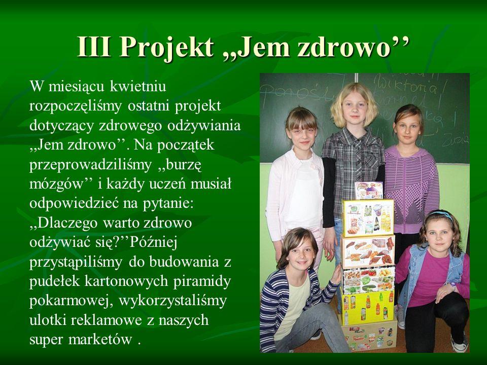Uczniowie poznali jakie składniki odżywcze zawierają poszczególne produkty żywnościowe, w jaki sposób ułożyć menu.