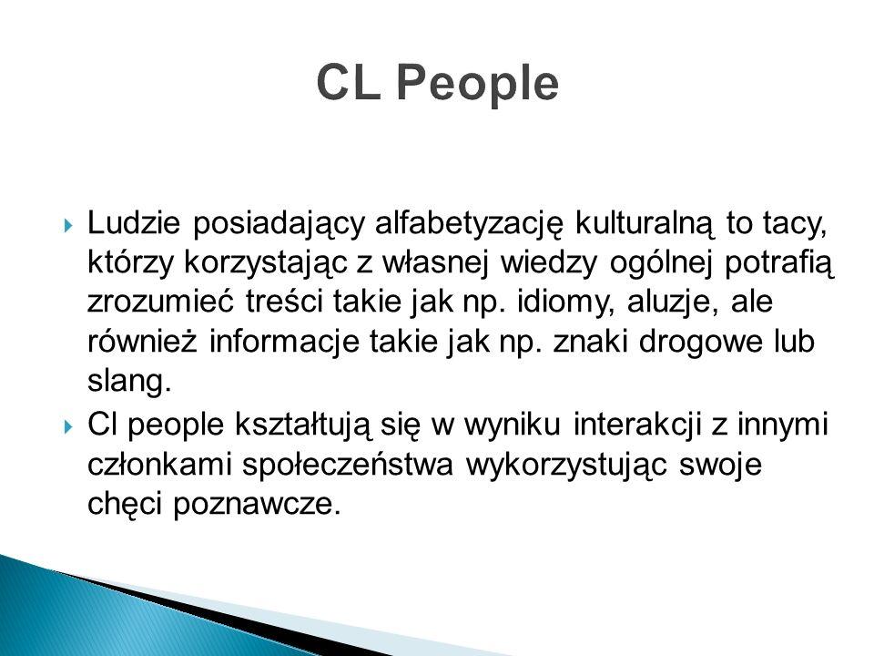 Łatwo zauważyć, że poziom Cl uzależniony jest od ilości informacji jaką może pozyskać jednostka.