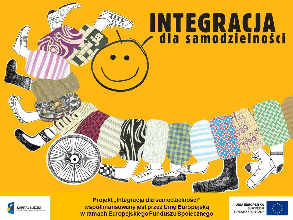 Projekt Integracja dla samodzielności współfinansowany jest przez Unię Europejską w ramach Europejskiego Funduszu Społecznego Zaawansowany kurs Adobe Photoshop Kurs asystencko - sekretarski Kurs kadrowo-płacowy Kurs księgowości komputerowej I stopnia Kurs pilotów wycieczek Kursy językowe Kursy pedagogiczne w tym: Kurs wychowawców w placówkach wypoczynku dzieci i młodzieży Kurs pierwszej pomocy przedmedycznej - elementarny Wykorzystywanie pedagogiki zabawy w pracy z dziećmi w wieku przedszkolnym i wczesnoszkolnym - kursy zawodowe: (dotychczas zorganizowane –cd.)