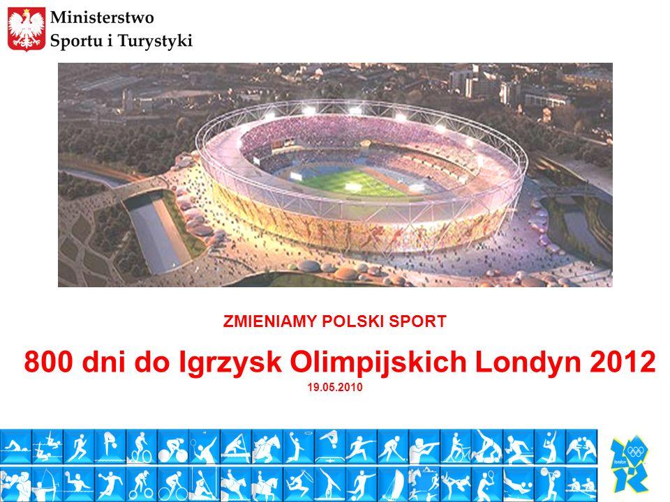 1 ZMIENIAMY POLSKI SPORT 800 dni do Igrzysk Olimpijskich Londyn 2012 19.05.2010