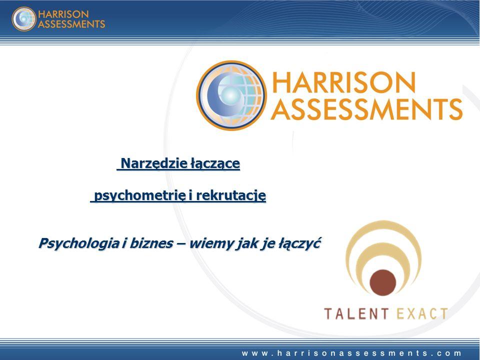Narzędzie łączące Narzędzie łączące psychometrię i rekrutację psychometrię i rekrutację Psychologia i biznes – wiemy jak je łączyć