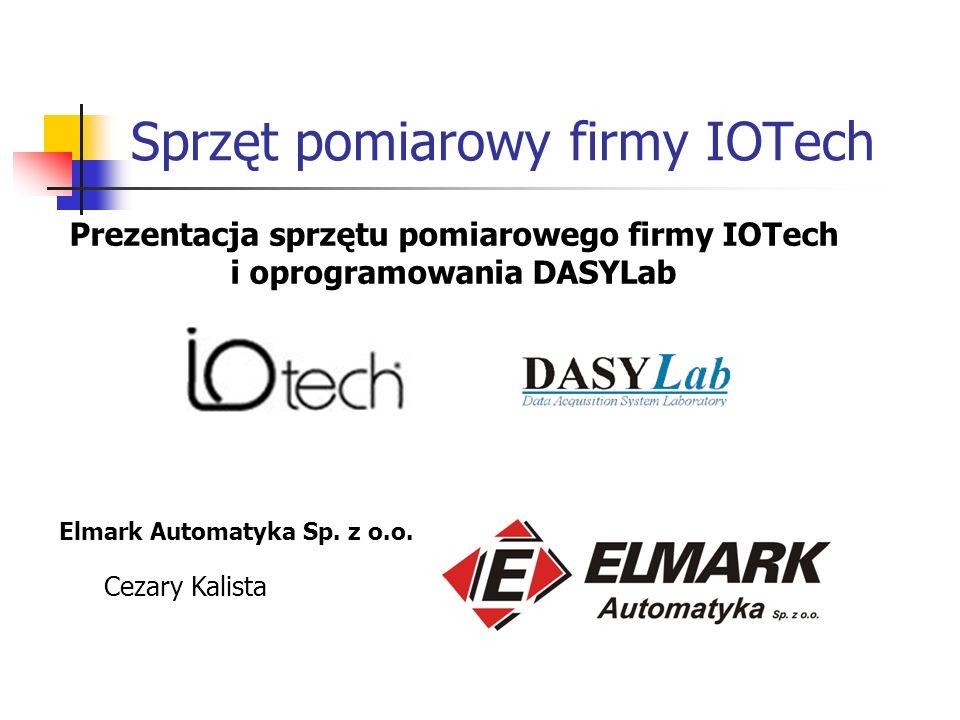 Sprzęt pomiarowy firmy IOTech Elmark Automatyka Sp.