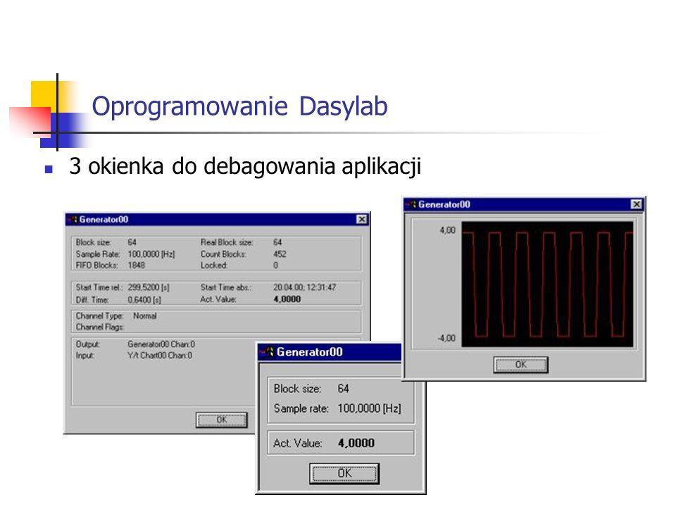 Oprogramowanie Dasylab 3 okienka do debagowania aplikacji