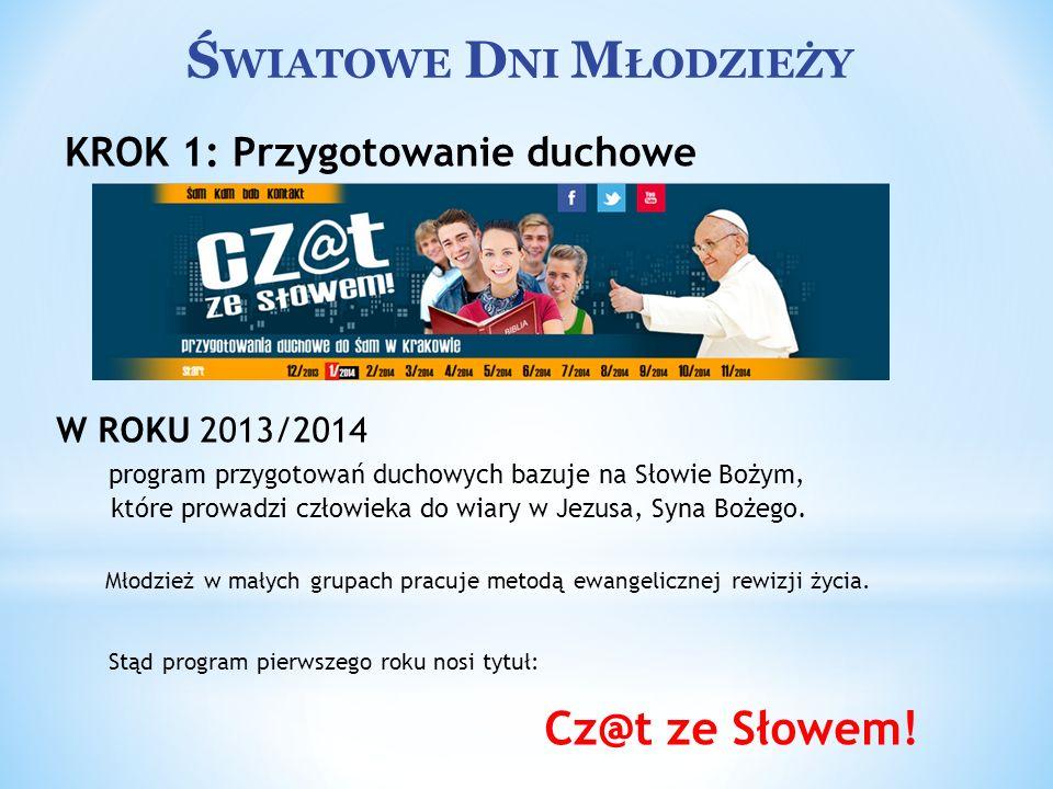 Ś WIATOWE D NI M ŁODZIEŻY Przejęcie Krzyża i Ikony przez polską młodzież Ceremonia przejęcia symboli ŚDM od młodzieży brazylijskiej będzie miała miejsce w Rzymie w najbliższą Niedzielę Palmową, 13 kwietnia 2014 roku.