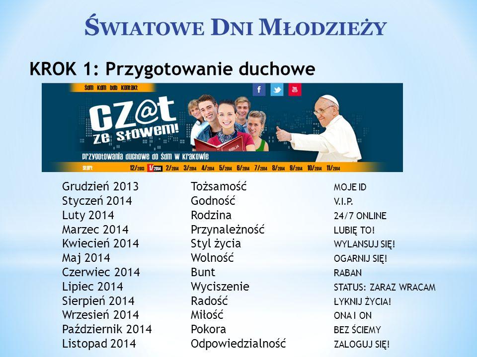 Ś WIATOWE D NI M ŁODZIEŻY Peregrynacja Krzyża i Ikony po polskich diecezjach Krzyż ŚDM oraz Ikona MB Salus Populi Romani odbędą wielomiesięczną pielgrzymkę do wszystkich polskich diecezji.