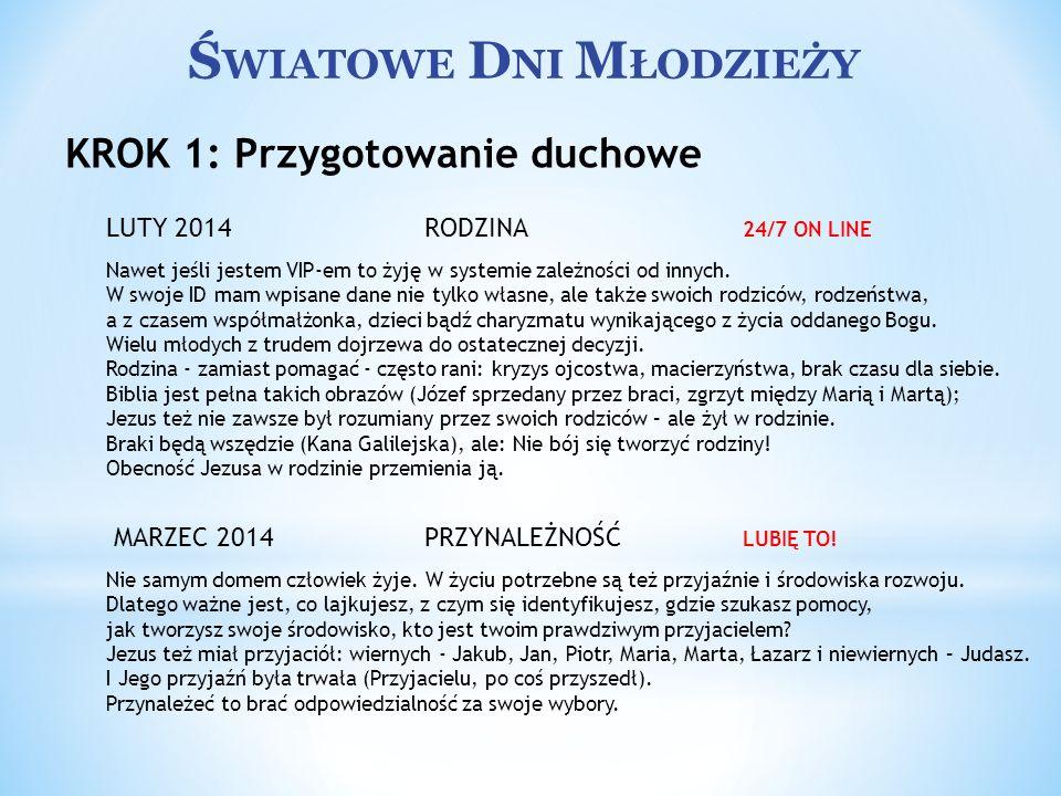 Ś WIATOWE D NI M ŁODZIEŻY KWIECIEŃ 2014 STYL ŻYCIA WYLANSUJ SIĘ.