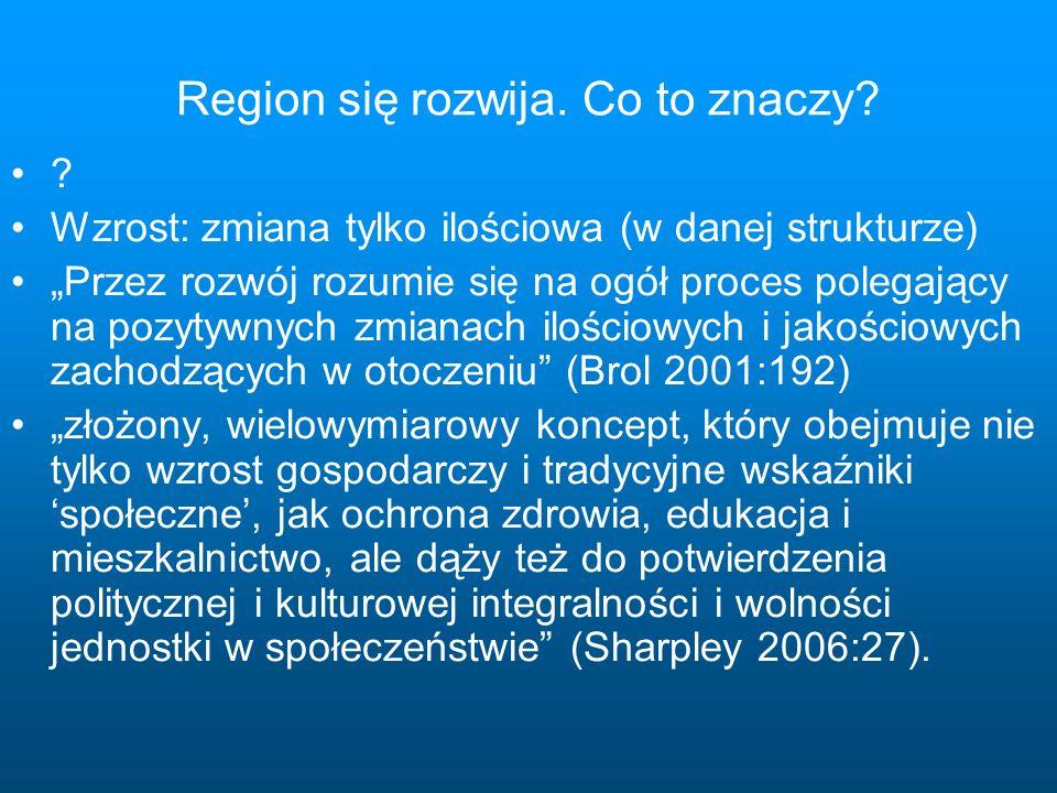 Region się rozwija. Co to znaczy.