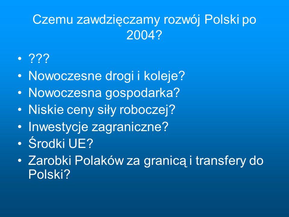 Czemu zawdzięczamy rozwój Polski po 2004. . Nowoczesne drogi i koleje.