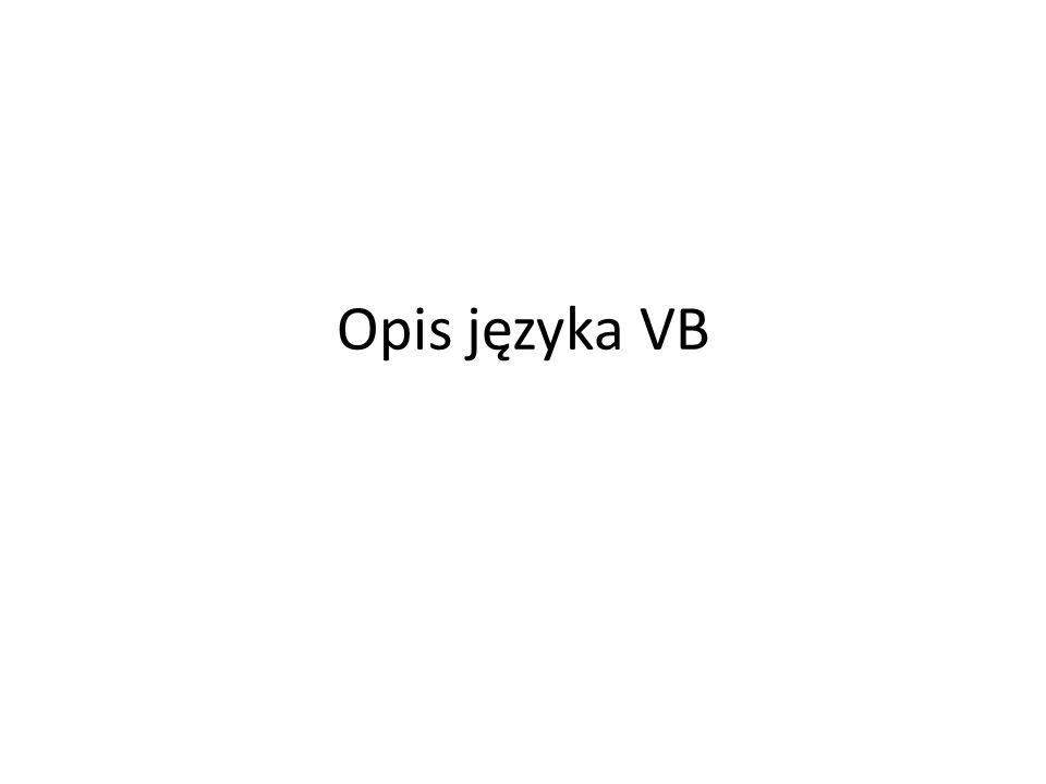 Opis języka VB