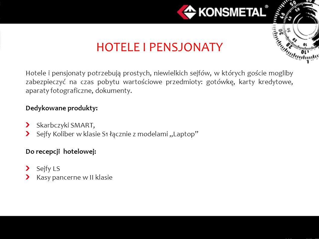 Hotele i pensjonaty potrzebują prostych, niewielkich sejfów, w których goście mogliby zabezpieczyć na czas pobytu wartościowe przedmioty: gotówkę, kar