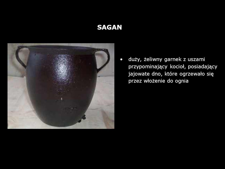 był powszechnie używany ze względu na jego dostępność (surowiec) i cenę (glina była tańsza od żeliwa) ; p rzetrzymywano w nim wodę, kwaszono mleko, ale także gotowano jego wyrób był czasochłonny i wymagał dużych umiejętności.