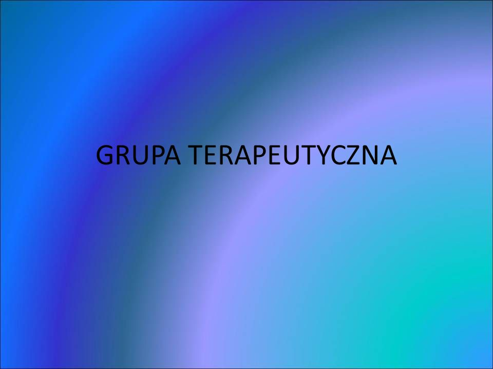 GRUPA TERAPEUTYCZNA