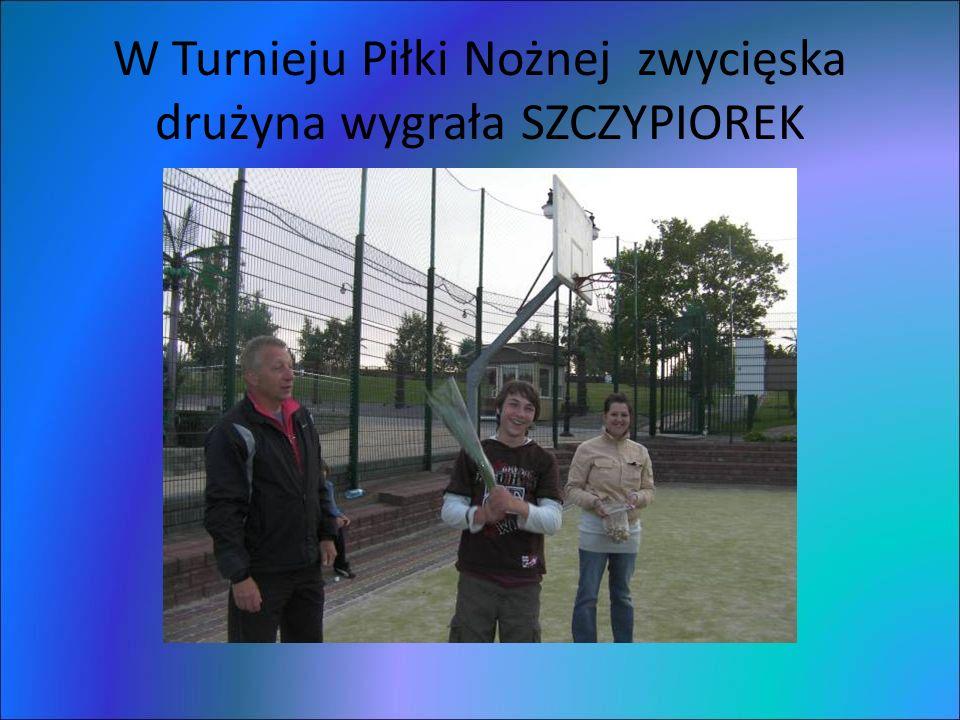 W Turnieju Piłki Nożnej zwycięska drużyna wygrała SZCZYPIOREK