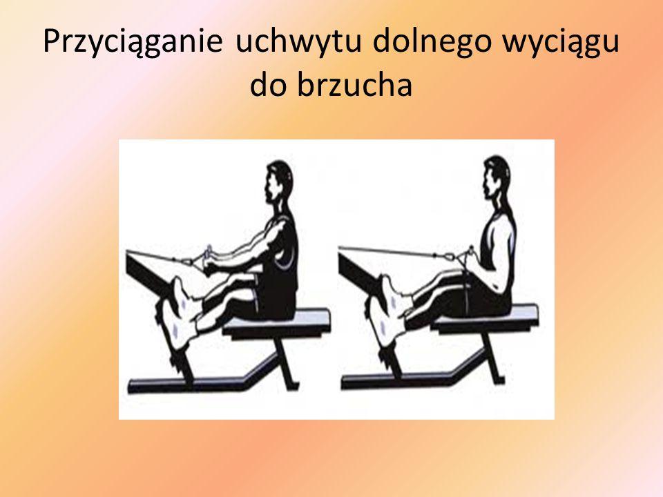 Przyciąganie uchwytu dolnego wyciągu do brzucha