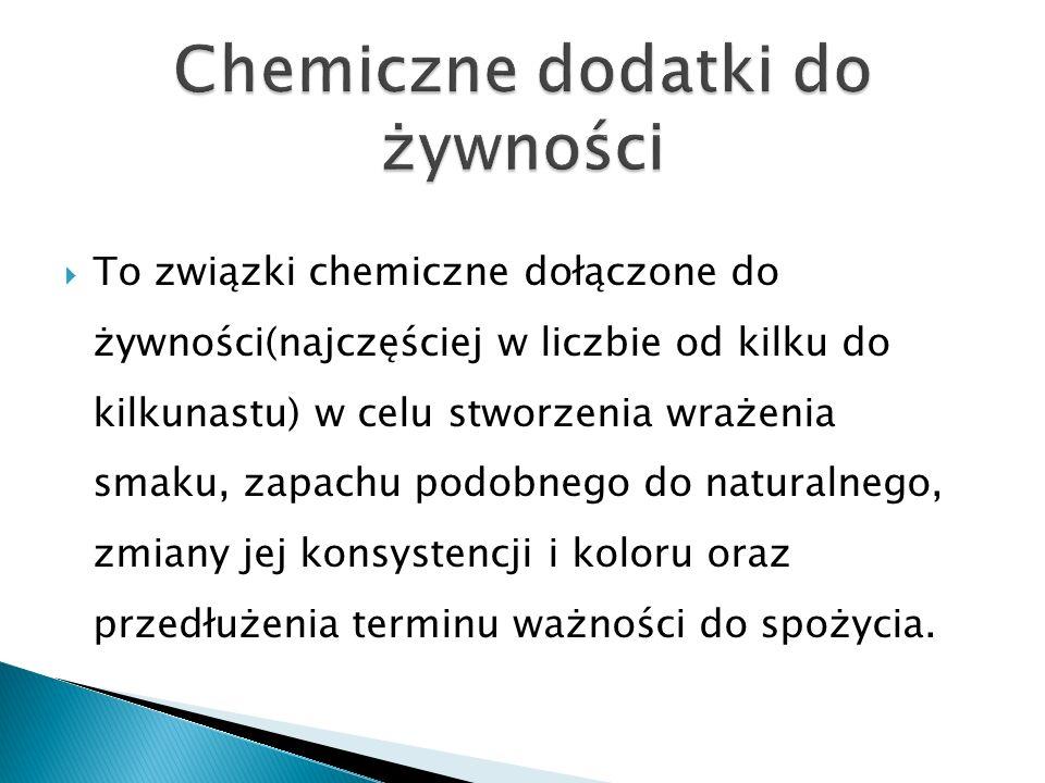 To związki chemiczne dołączone do żywności(najczęściej w liczbie od kilku do kilkunastu) w celu stworzenia wrażenia smaku, zapachu podobnego do natura