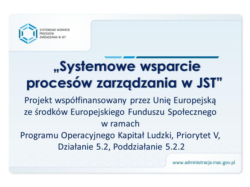 Projekt współfinansowany przez Unię Europejską ze środków Europejskiego Funduszu Społecznego w ramach Programu Operacyjnego Kapitał Ludzki, Priorytet