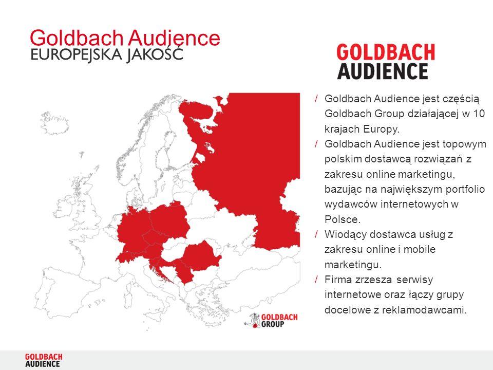 /Goldbach Audience jest częścią Goldbach Group działającej w 10 krajach Europy. /Goldbach Audience jest topowym polskim dostawcą rozwiązań z zakresu o