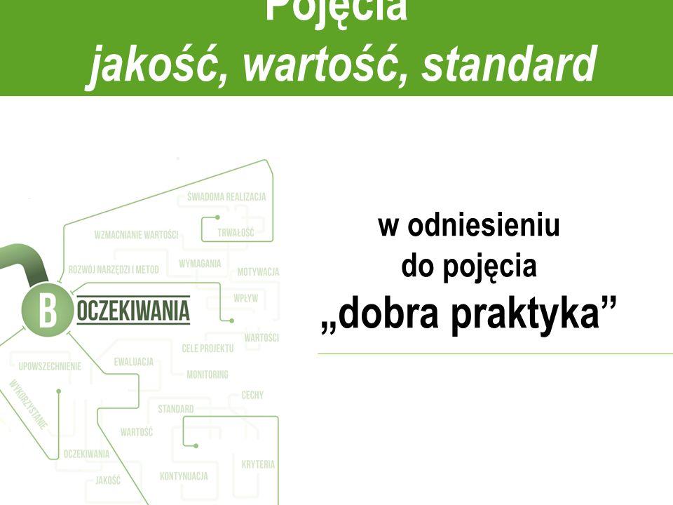 Pojęcia jakość, wartość, standard w odniesieniu do pojęcia dobra praktyka
