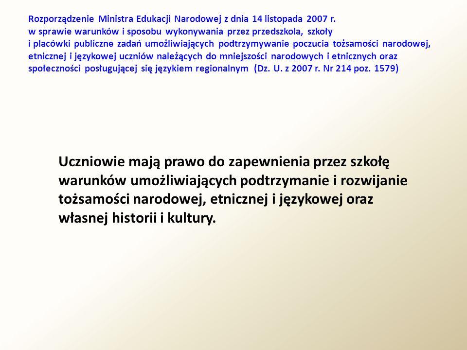 Rozporządzenie Ministra Edukacji Narodowej z dnia 14 listopada 2007 r. w sprawie warunków i sposobu wykonywania przez przedszkola, szkoły i placówki p