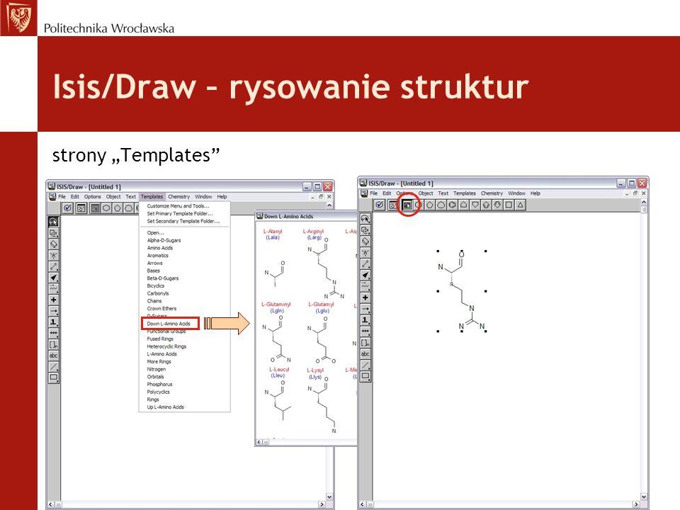 Isis/Draw – rysowanie struktur strony Templates