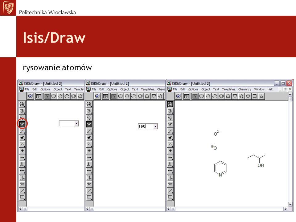 Isis/Draw rysowanie atomów