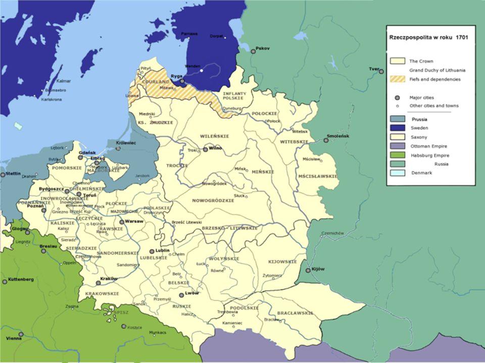 WIELKA WOJNA PÓŁNOCNA W 1700 roku wybuchła wojna północna. Przeciw Szwecji wystąpiły razem Rosja i Saksonia. Działania wojenne toczyły się jednak głow