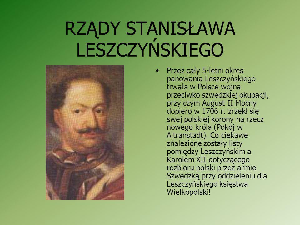 INTERWENCJA SZWEDÓW NA TRONIE RZECZPOSPOLITEJ Szwedzi, chcą usunąć z polskiego tronu Augusta II, przeprowadzili w 1704 roku elekcję nowego króla. Pod