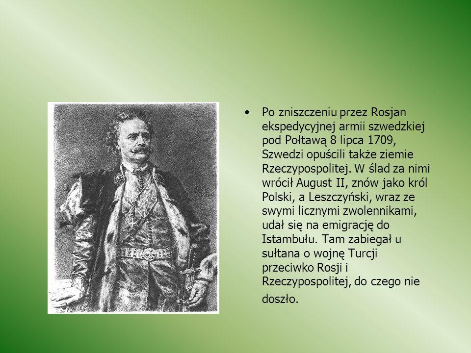RZĄDY STANISŁAWA LESZCZYŃSKIEGO Przez cały 5-letni okres panowania Leszczyńskiego trwała w Polsce wojna przeciwko szwedzkiej okupacji, przy czym Augus