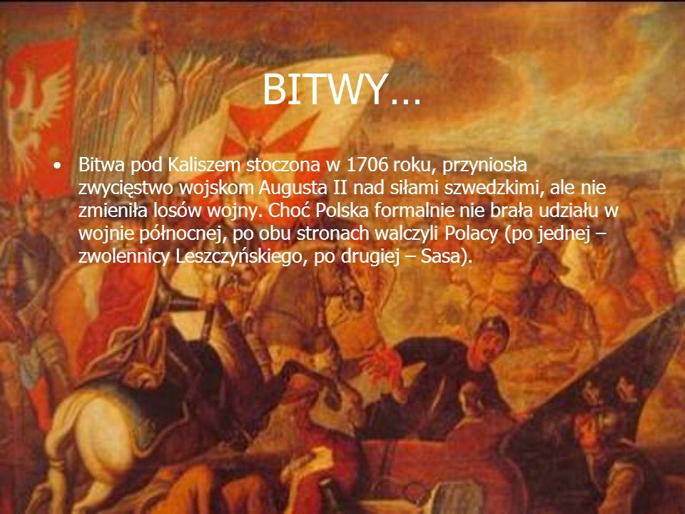 PODZIAŁ W POLSKIM SPOŁECZEŃSTWIE W wyniku elekcji szlachta podzieliła się na dwa stronnictwa: jedno popierające Sasa, a drugie – Leszczyńskiego. Stąd