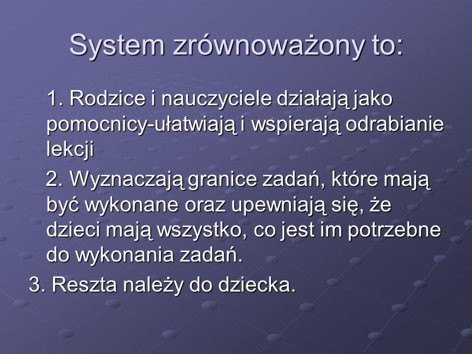 System zrównoważony to: 1.
