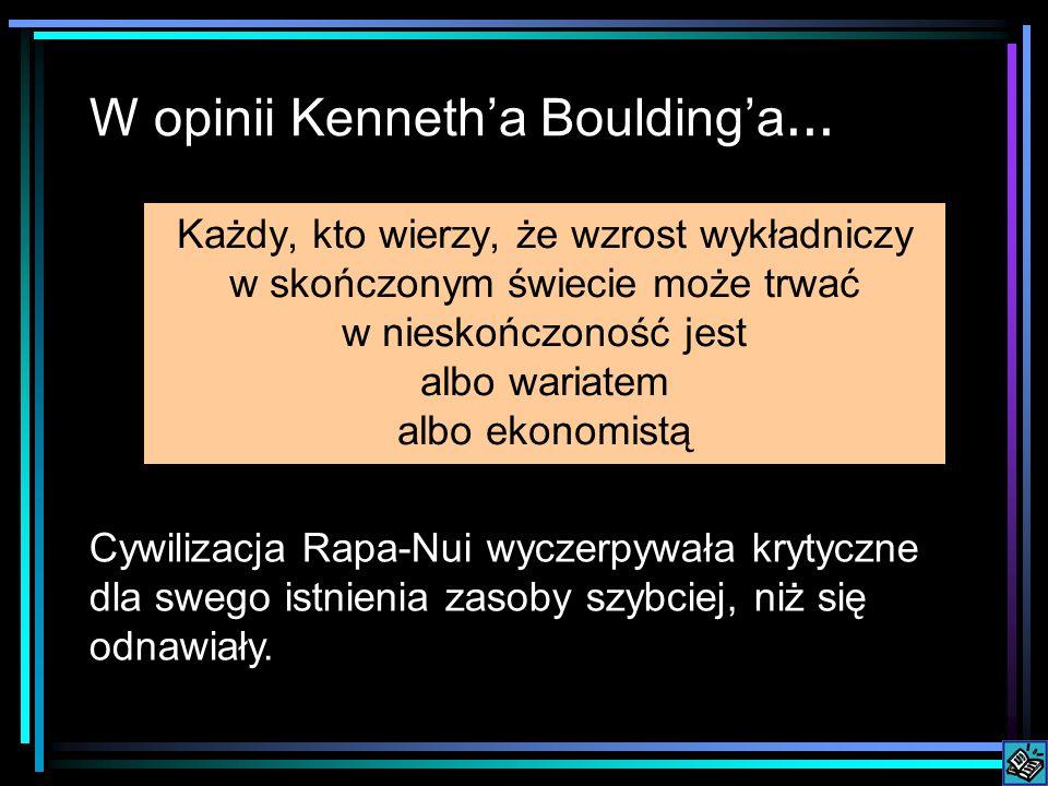 W opinii Kennetha Bouldinga...