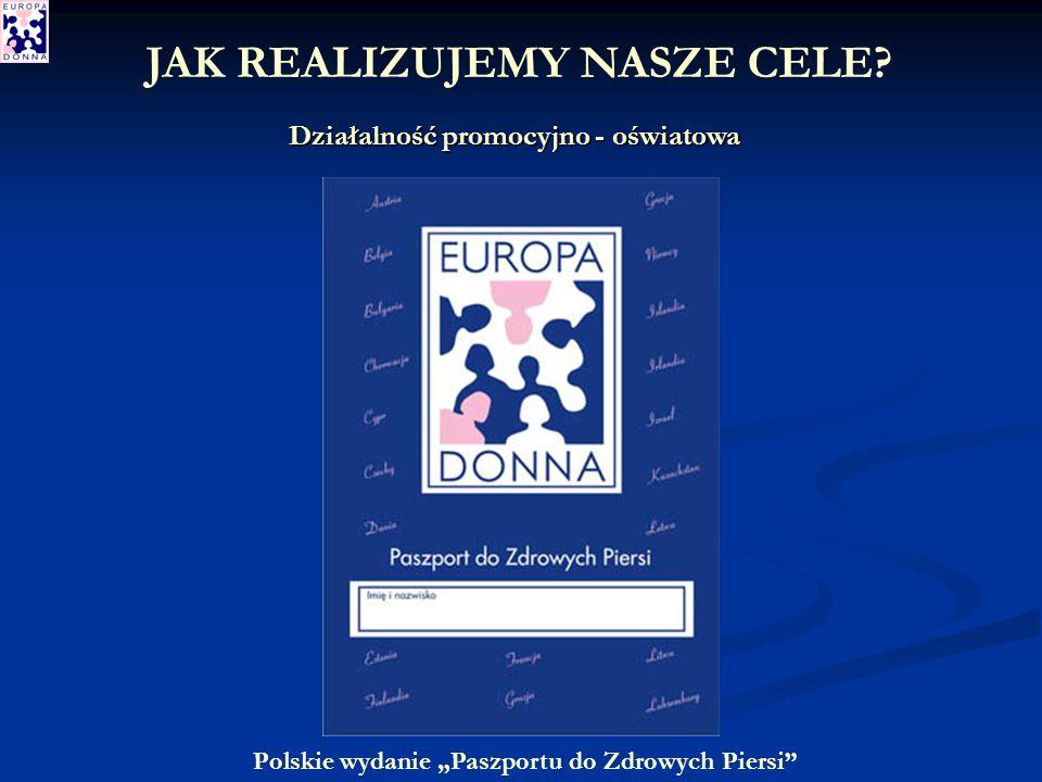 Polskie wydanie Paszportu do Zdrowych Piersi Działalność promocyjno - oświatowa JAK REALIZUJEMY NASZE CELE
