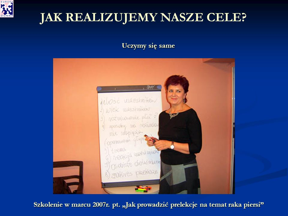 Uczymy się same Szkolenie w marcu 2007r. pt.