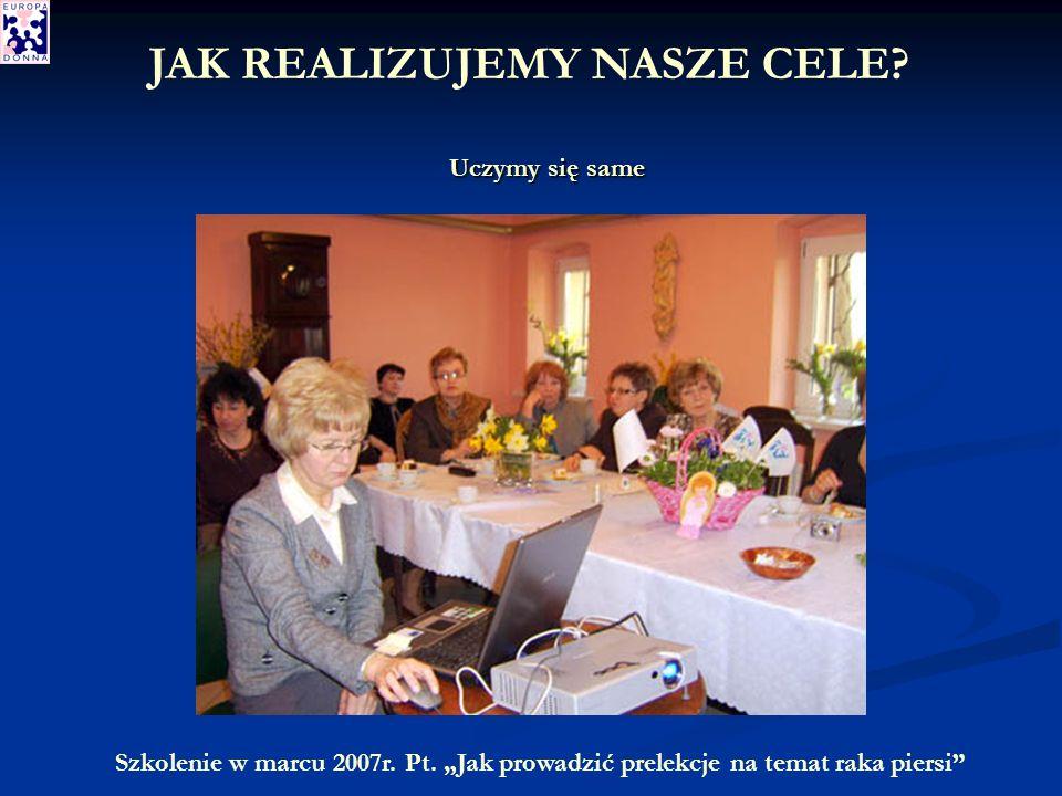 Szkolenie w marcu 2007r. Pt.