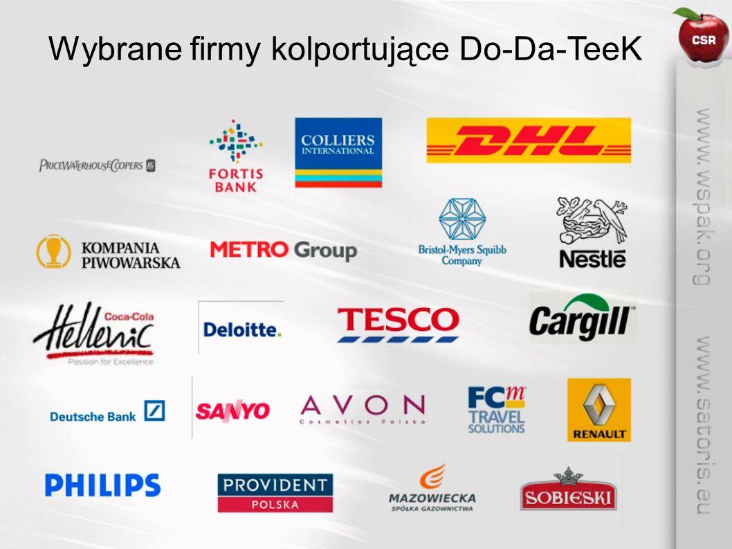 Do-Da-TeeK jest przestrzenią wypowiedzi i narzędziem promocji społecznego zaangażowania firm wspierających inicjatywę WSPAK.