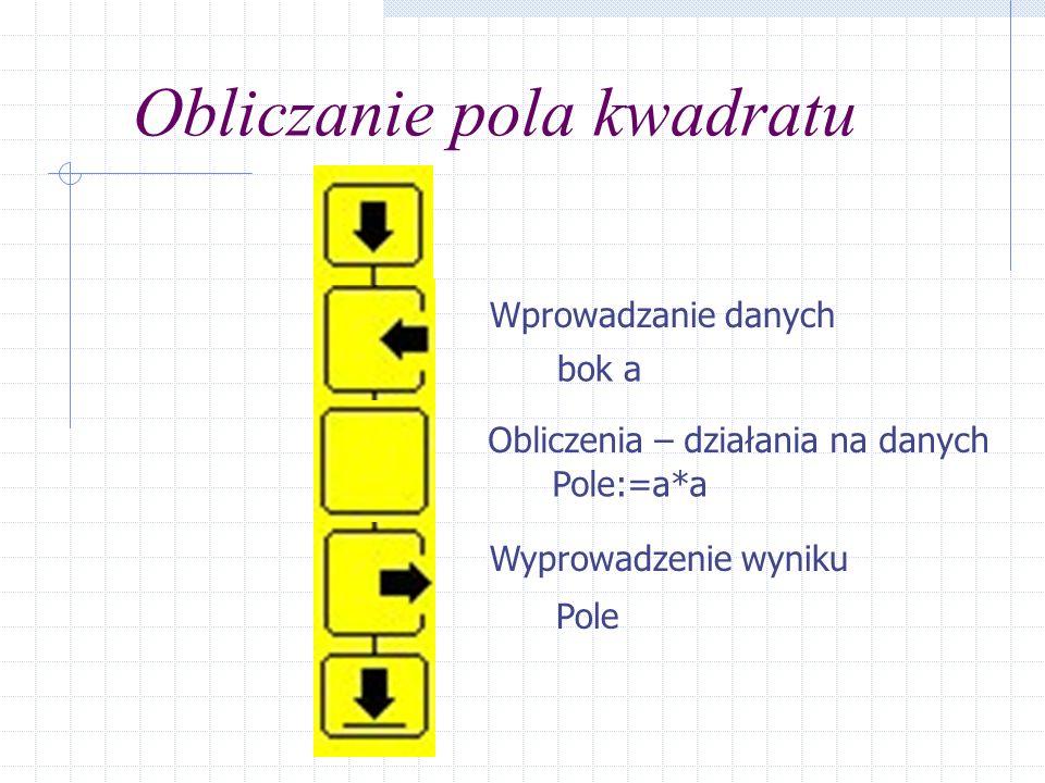 Tworzenie kodu – opis działań 0 Określamy przeznaczenie programu