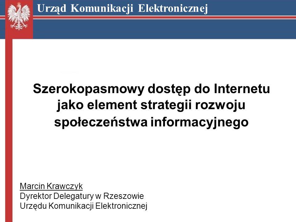 Marcin Krawczyk Dyrektor Delegatury w Rzeszowie Urzędu Komunikacji Elektronicznej m.krawczyk@uke.gov.pl Urząd Komunikacji Elektronicznej Dziękuję za uwagę