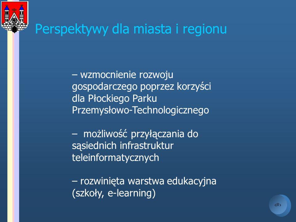 19 – wzmocnienie rozwoju gospodarczego poprzez korzyści dla Płockiego Parku Przemysłowo-Technologicznego – możliwość przyłączania do sąsiednich infras