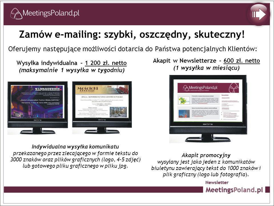 Zamów e-mailing: szybki, oszczędny, skuteczny.