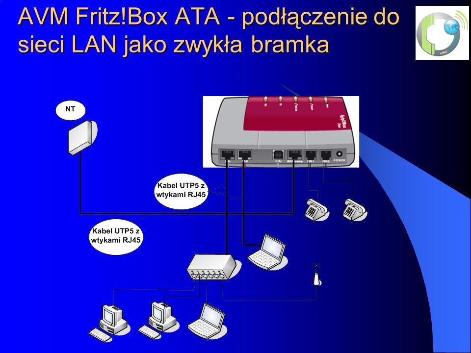 AVM Fritz!Box ATA - podłączenie do sieci LAN jako zwykła bramka