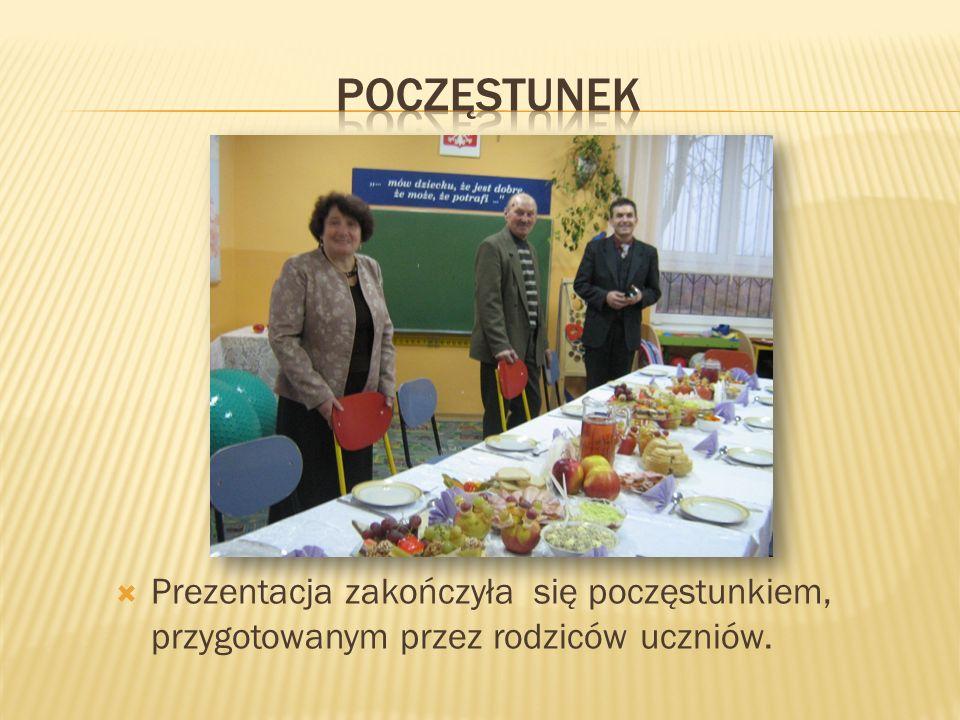 Prezentacja zakończyła się poczęstunkiem, przygotowanym przez rodziców uczniów.