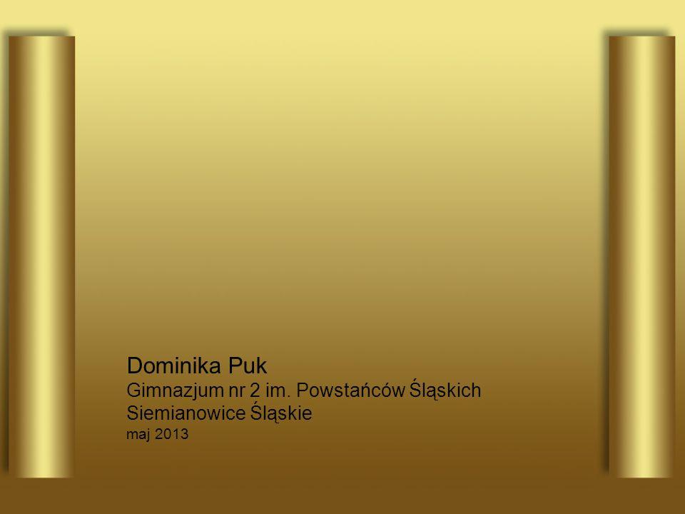 Dominika Puk Gimnazjum nr 2 im. Powstańców Śląskich Siemianowice Śląskie maj 2013